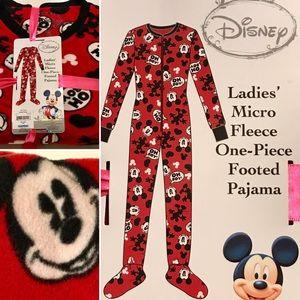 Disney Pink Print Minnie Mouse XL  2-Piece Micro Fleece Pajama Sleepwear Set NWT